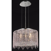 Elegant Lighting Moda 5 Light Dining Chandelier in Chrome with Swarovski Strass Rosaline Crystal 1393D18C-RO/SS