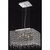 Elegant Lighting Moda 5 Light Dining Chandelier in Chrome with Royal Cut Jet Black Crystal 1394D18C-JT/RC