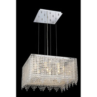 Elegant Lighting Moda 9 Light Dining Chandelier in Chrome with Swarovski Strass Clear Crystal 1394D22C-CL/SS