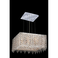 Elegant Lighting Moda 9 Light Dining Chandelier in Chrome with Royal Cut Golden Teak Crystal 1394D22C-GT/RC