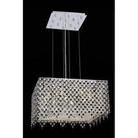 Elegant Lighting Moda 9 Light Dining Chandelier in Chrome with Swarovski Strass Jet Black Crystal 1394D22C-JT/SS