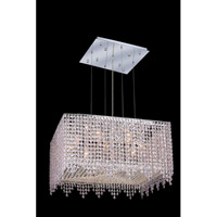 Elegant Lighting Moda 9 Light Dining Chandelier in Chrome with Swarovski Strass Rosaline Crystal 1394D22C-RO/SS