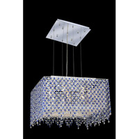 Elegant Lighting Moda 9 Light Dining Chandelier in Chrome with Swarovski Strass Sapphire Crystal 1394D22C-SA/SS