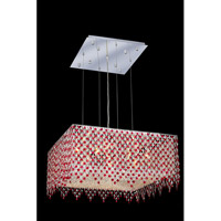 Moda 13 Light 26 inch Chrome Dining Chandelier Ceiling Light in Bordeaux, Swarovski Strass