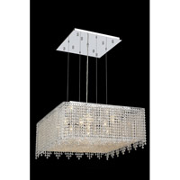Elegant Lighting Moda 13 Light Dining Chandelier in Chrome with Swarovski Strass Clear Crystal 1394D26C-CL/SS