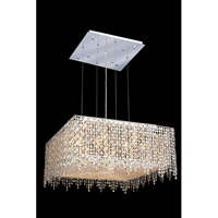 Elegant Lighting Moda 13 Light Dining Chandelier in Chrome with Swarovski Strass Golden Teak Crystal 1394D26C-GT/SS