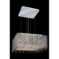 Elegant Lighting Moda 13 Light Dining Chandelier in Chrome with Royal Cut Jet Black Crystal 1394D26C-JT/RC