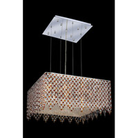 Elegant Lighting Moda 13 Light Dining Chandelier in Chrome with Swarovski Strass Topaz Crystal 1394D26C-TO/SS