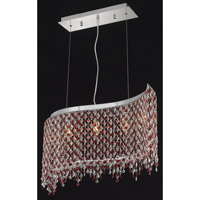 Elegant Lighting Moda 5 Light Dining Chandelier in Chrome with Swarovski Strass Bordeaux Crystal 1396D32C-BO/SS