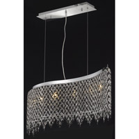 Elegant Lighting Moda 6 Light Dining Chandelier in Chrome with Swarovski Strass Jet Black Crystal 1396D46C-JT/SS