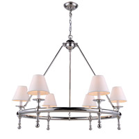 Urban Classic by Elegant Lighting Montgomery 6 Light Pendant in Polished Nickel 1406D33PN - Open Box
