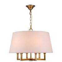 Elegant Lighting Hamilton 6 Light Pendant in Antique Bronze 1409D24BB