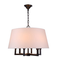 Elegant Lighting Hamilton 6 Light Pendant in Bronze 1409D24BZ