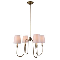 Urban Classic by Elegant Lighting Lancaster 4 Light Pendant in Antique Bronze 1411D26BB
