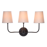 Urban Classic by Elegant Lighting Lancaster 3 Light Wall Sconce in Bronze 1411W22BZ