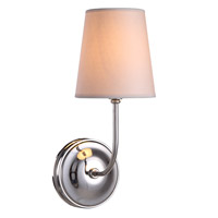 Urban Classic by Elegant Lighting Lancaster 1 Light Wall Sconce in Polished Nickel 1411W6PN