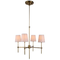 Urban Classic by Elegant Lighting Baldwin 4 Light Pendant in Antique Bronze 1412D26BB