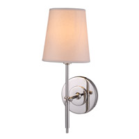 Urban Classic by Elegant Lighting Baldwin 1 Light Wall Sconce in Polished Nickel 1412W6PN - Open Box