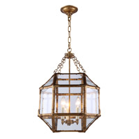Urban Classic by Elegant Lighting Gordon 3 Light Pendant in Golden Iron 1413D14GI