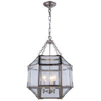 Urban Classic by Elegant Lighting Gordon 3 Light Pendant in Polished Nickel 1413D14PN