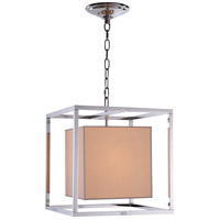 Urban Classic by Elegant Lighting Quincy 1 Light Pendant in Polished Nickel 1416D16PN