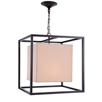 Urban Classic by Elegant Lighting Quincy 2 Light Pendant in Antique Bronze 1416D22BZ