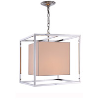 Urban Classic by Elegant Lighting Quincy 2 Light Pendant in Polished Nickel 1416D22PN