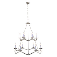 Urban Classic by Elegant Lighting Perry 12 Light Pendant in Polished Nickel 1419G38PN