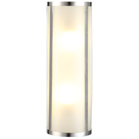 Urban Classic by Elegant Lighting Sierra 2 Light Wall Sconce in Polished Nickel 1427W5PN