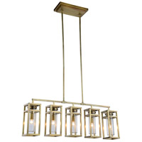 Bianca 5 Light 6 inch Burnished Brass Pendant Ceiling Light, Urban Classic
