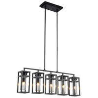 Urban Classic by Elegant Lighting Bianca 5 Light Pendant in Bronze 1443G47BZ