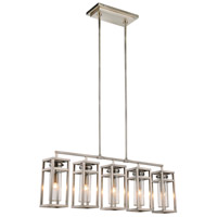 Bianca 5 Light 6 inch Vintage Nickel Pendant Ceiling Light, Urban Classic