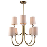 Urban Classic by Elegant Lighting Toscana 8 Light Pendant in Burnished Brass 1444D28BB