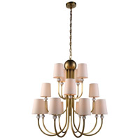 Urban Classic by Elegant Lighting Toscana 16 Light Pendant in Burnished Brass 1444D33BB