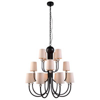 Urban Classic by Elegant Lighting Toscana 16 Light Pendant in Bronze 1444D33BZ