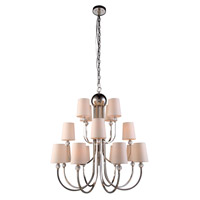 Urban Classic by Elegant Lighting Toscana 16 Light Pendant in Polished Nickel 1444D33PN