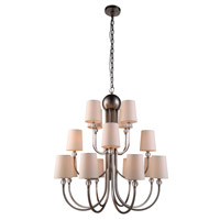 Urban Classic by Elegant Lighting Toscana 16 Light Pendant in Vintage Nickel 1444D33VN
