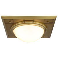 Cilla 3 Light 17 inch Burnished Brass Flush Mount Ceiling Light, Urban Classic