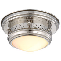 Mallory 1 Light 10 inch Polished Nickel Flush Mount Ceiling Light, Urban Classic