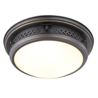 Mallory 3 Light 16 inch Bronze Flush Mount Ceiling Light, Urban Classic