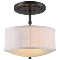 Manhattan 2 Light 15 inch Bronze Pendant Ceiling Light, Urban Classic