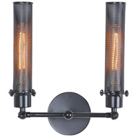 Nelson 2 Light 12 inch Black Wall Sconce Wall Light, Urban Classic