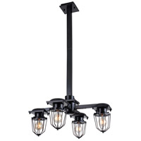 Kingston 4 Light 24 inch Black Pendant Ceiling Light, Urban Classic