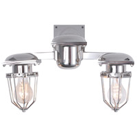 Kingston 2 Light 18 inch Chrome Wall Sconce Wall Light