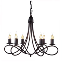 Lyndon 6 Light 24 inch Dark Bronze Pendant Ceiling Light