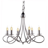 Lyndon 6 Light 24 inch Polished Nickel Pendant Ceiling Light, Urban Classic