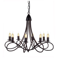 Lyndon 8 Light 28 inch Dark Bronze Pendant Ceiling Light