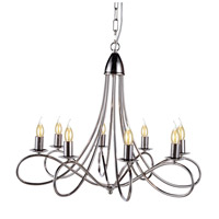 Urban Classic by Elegant Lighting Lyndon 8 Light Pendant in Polished Nickel 1452D28PN