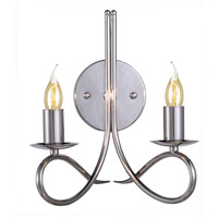 Lyndon 2 Light 10 inch Polished Nickel Wall Sconce Wall Light