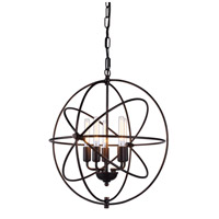 Vienna 5 Light 20 inch Dark Bronze Pendant Ceiling Light, Urban Classic
